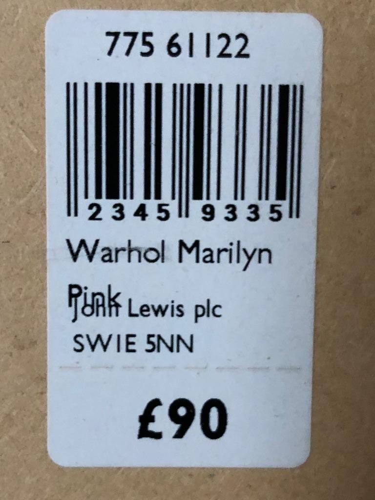 """26"""" x 26"""" LARGE BLACK BOX FRAMED 1964 ANDY WARHOL MARILYN"""