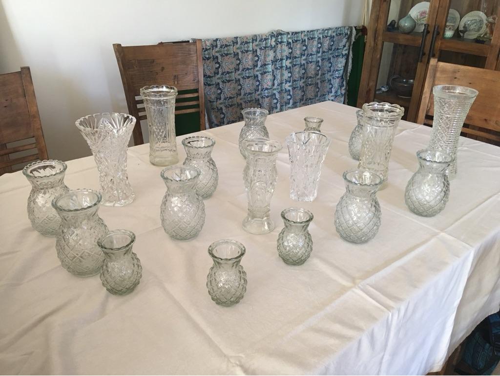 Vintage / shabby chic vases