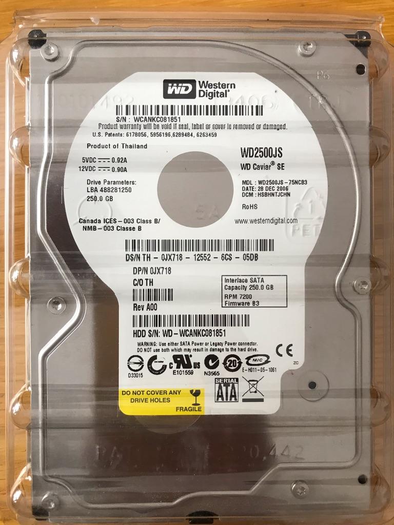 Western Digital 250 gb Hard Drive