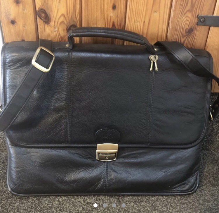 Genuine leather briefcase/laptop bag