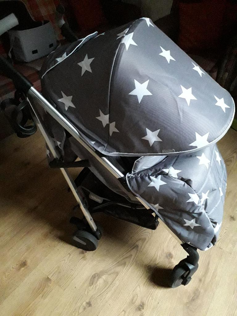 My babiie grey stars stroller