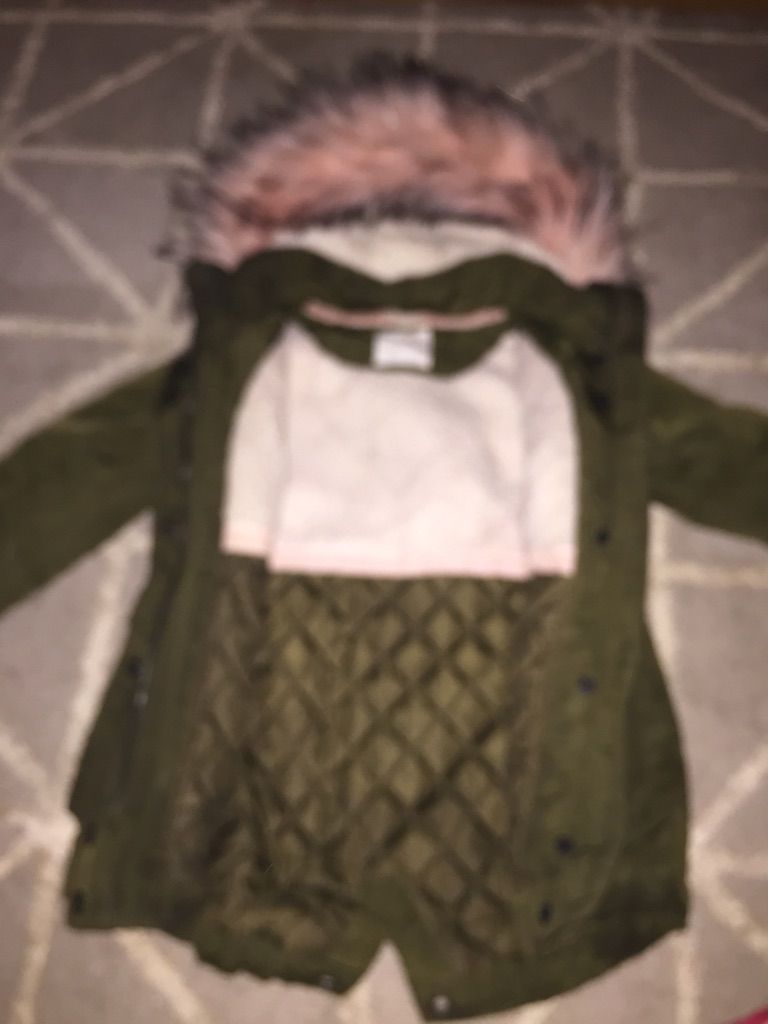 Girls faux fur hooded Parker coat