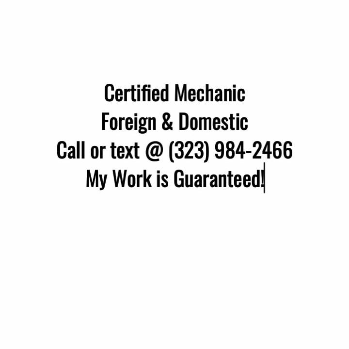 Mechanic foreign & domestic