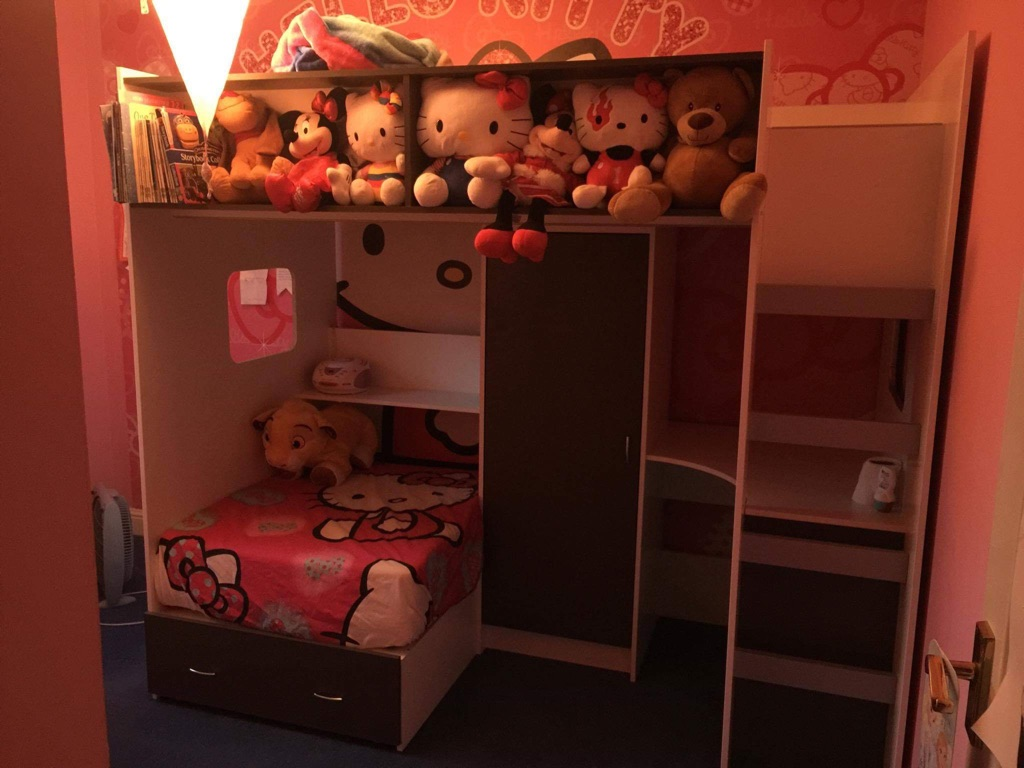 Children's high sleeper single bed