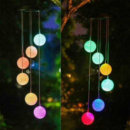 Illuminated Outdoor Solar-Powered Hanging Wind Chime £15.99