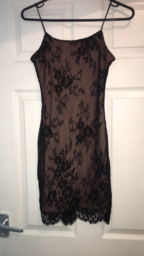 Black and pink lace H&M dress