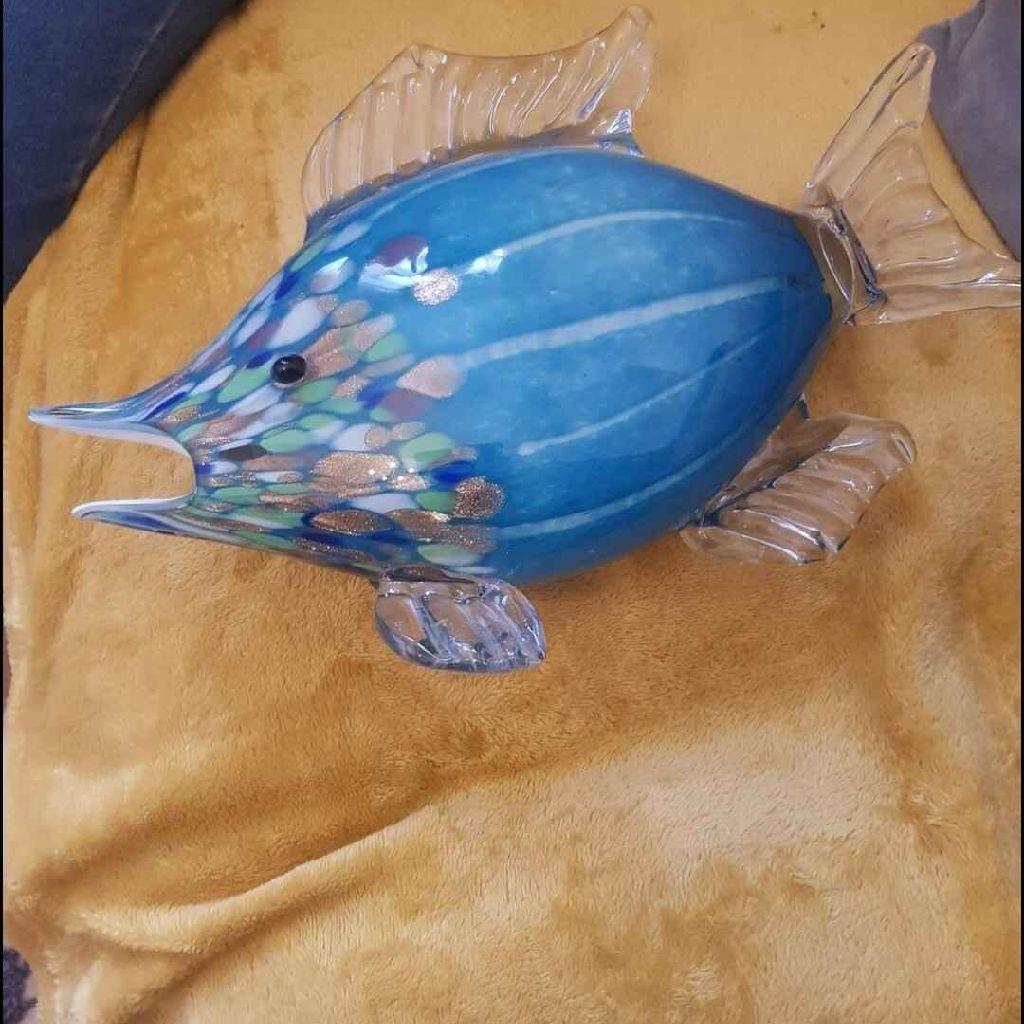 GLASS FISH ORNAMENT