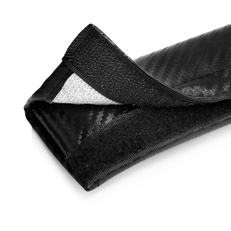 2X Seat Belt Pads Carbon Skoda Octavia VRS Hatch 4wd vrs Sport