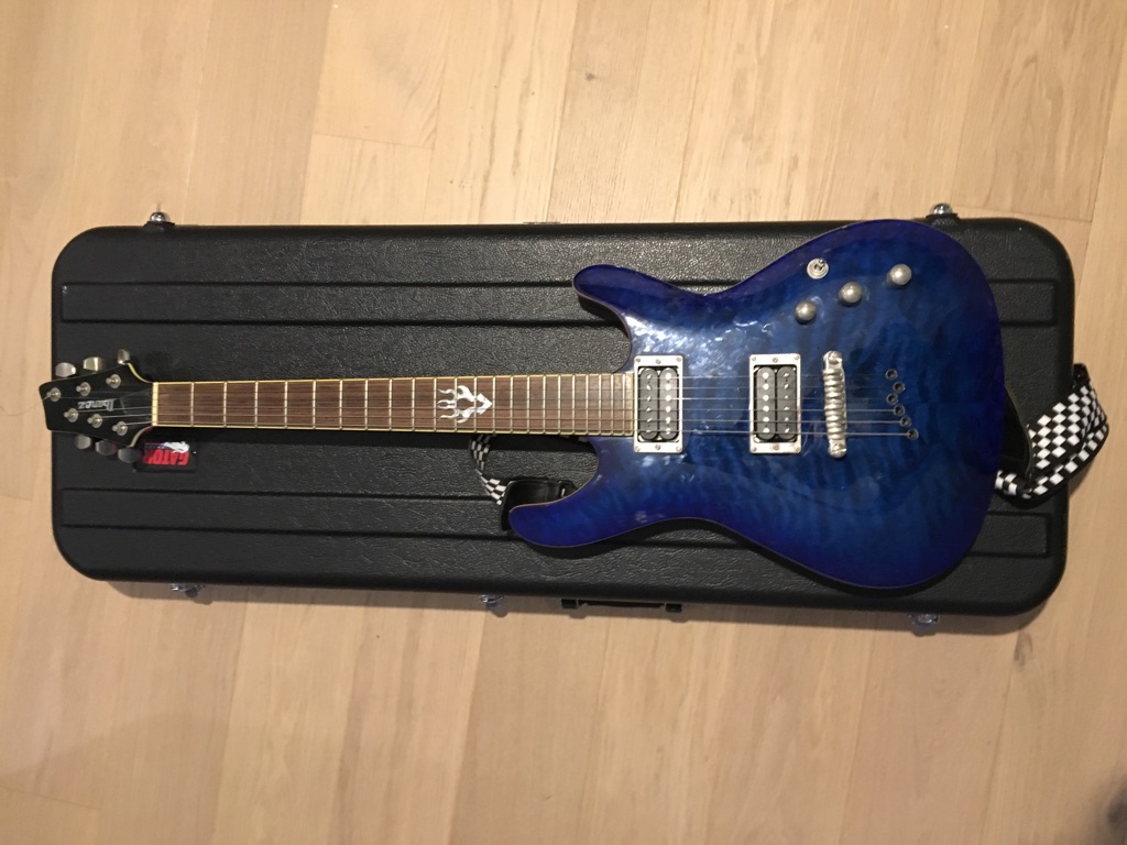 Ibanez SZ520QM - Bright Blue with hard case