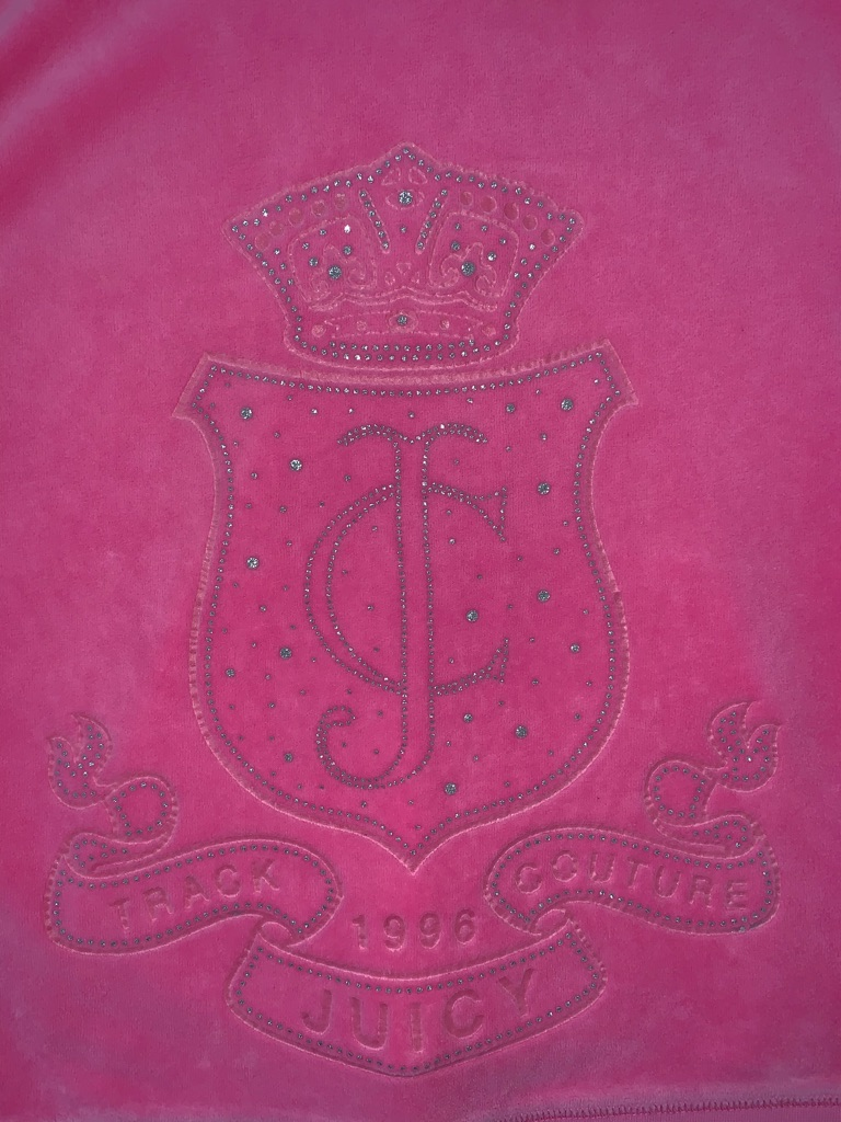 Genuine Juicy Couture Pink Velour Tracksuit Top