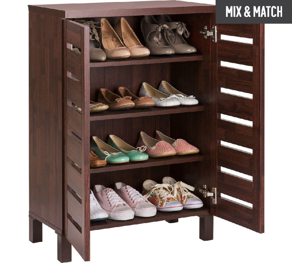 Shoe Cabinet - Mahogany