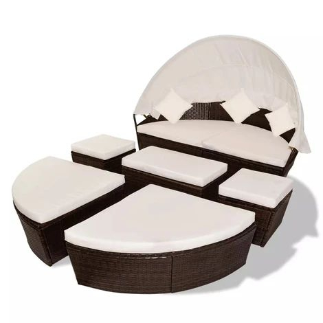 Garden Lounger with Canopy