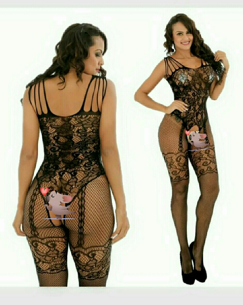 One size fits most xs up to xl fishnet crotchless bodystockins