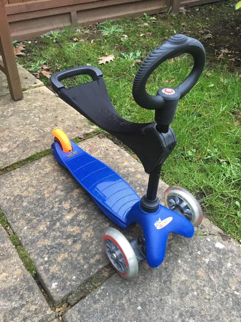 3 in 1 Micro mini blue scooter