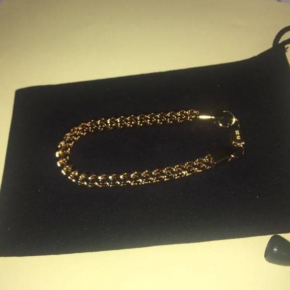Filled gold bracelet