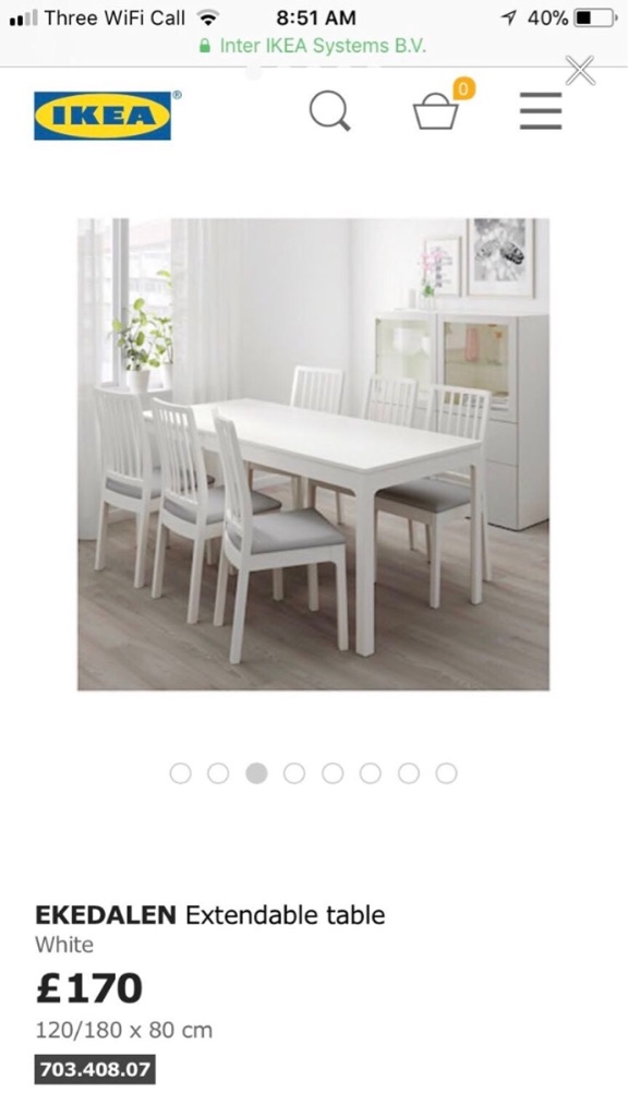 Extendable dining room table IKEA
