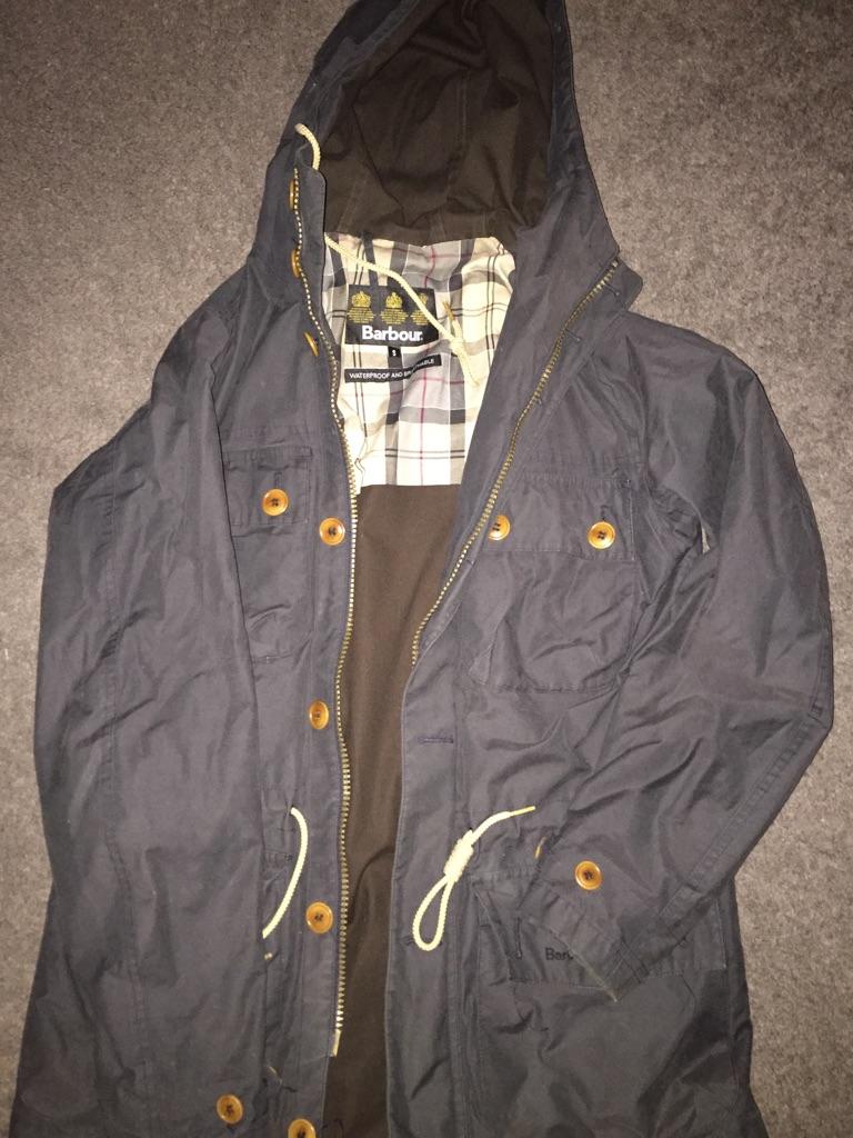 Men's Barbour navy jacket
