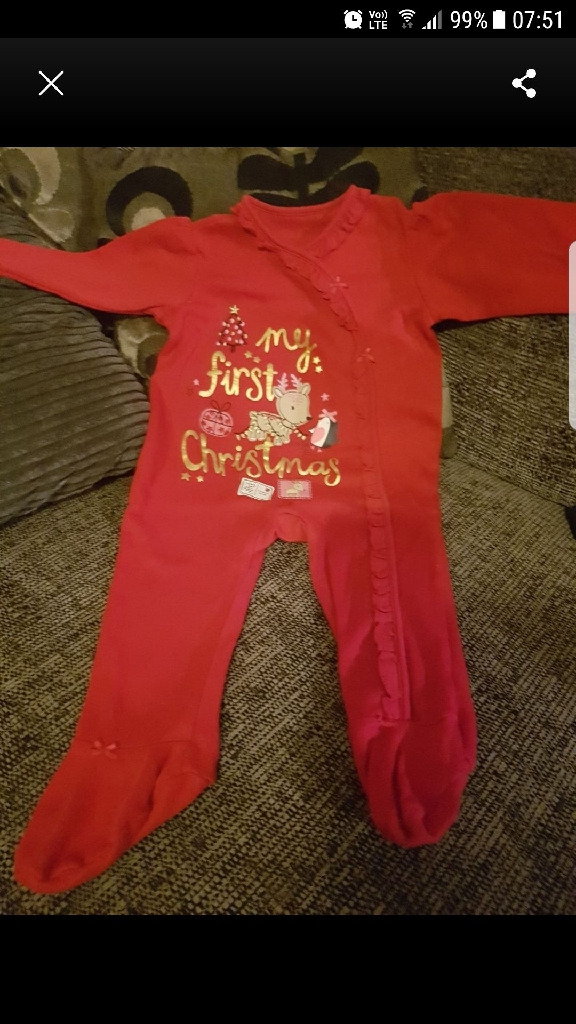 Christmas baby pjs