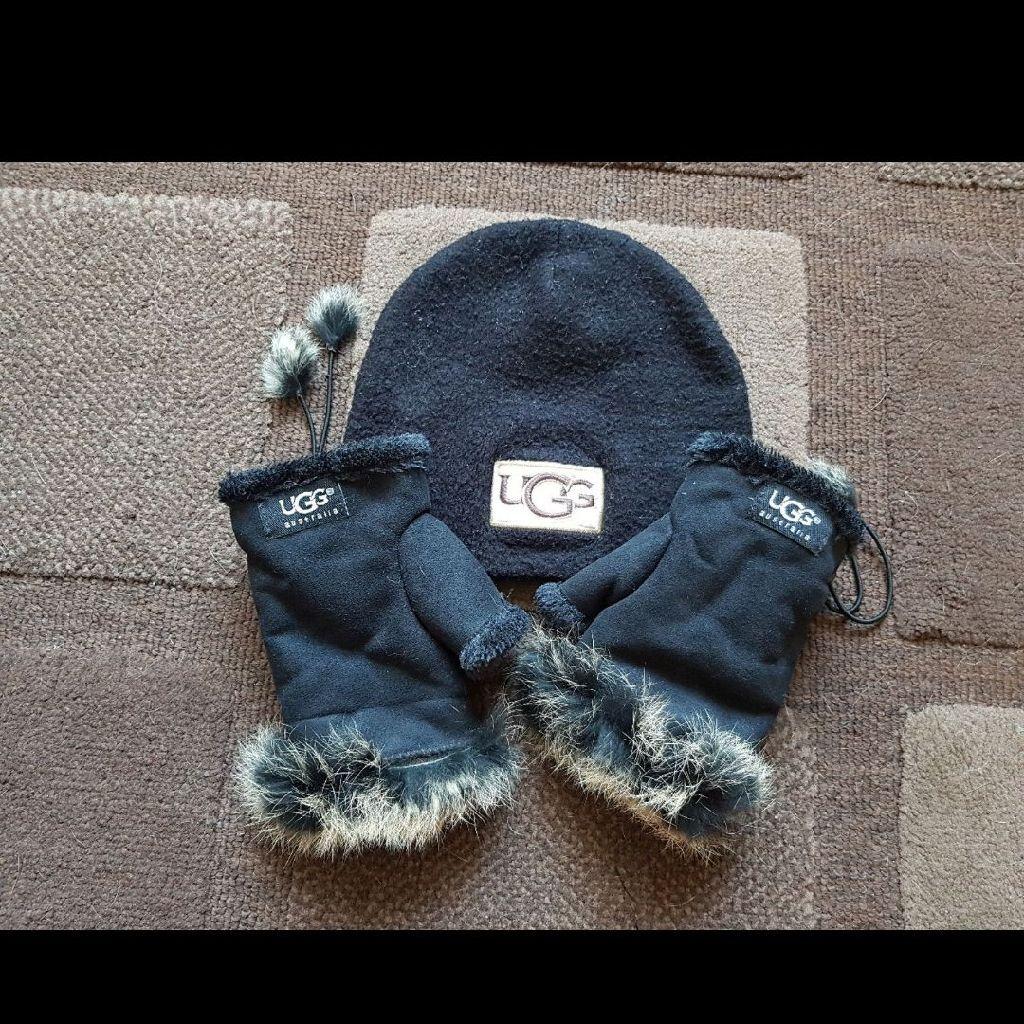Ugg Hat and Fingerless gloves