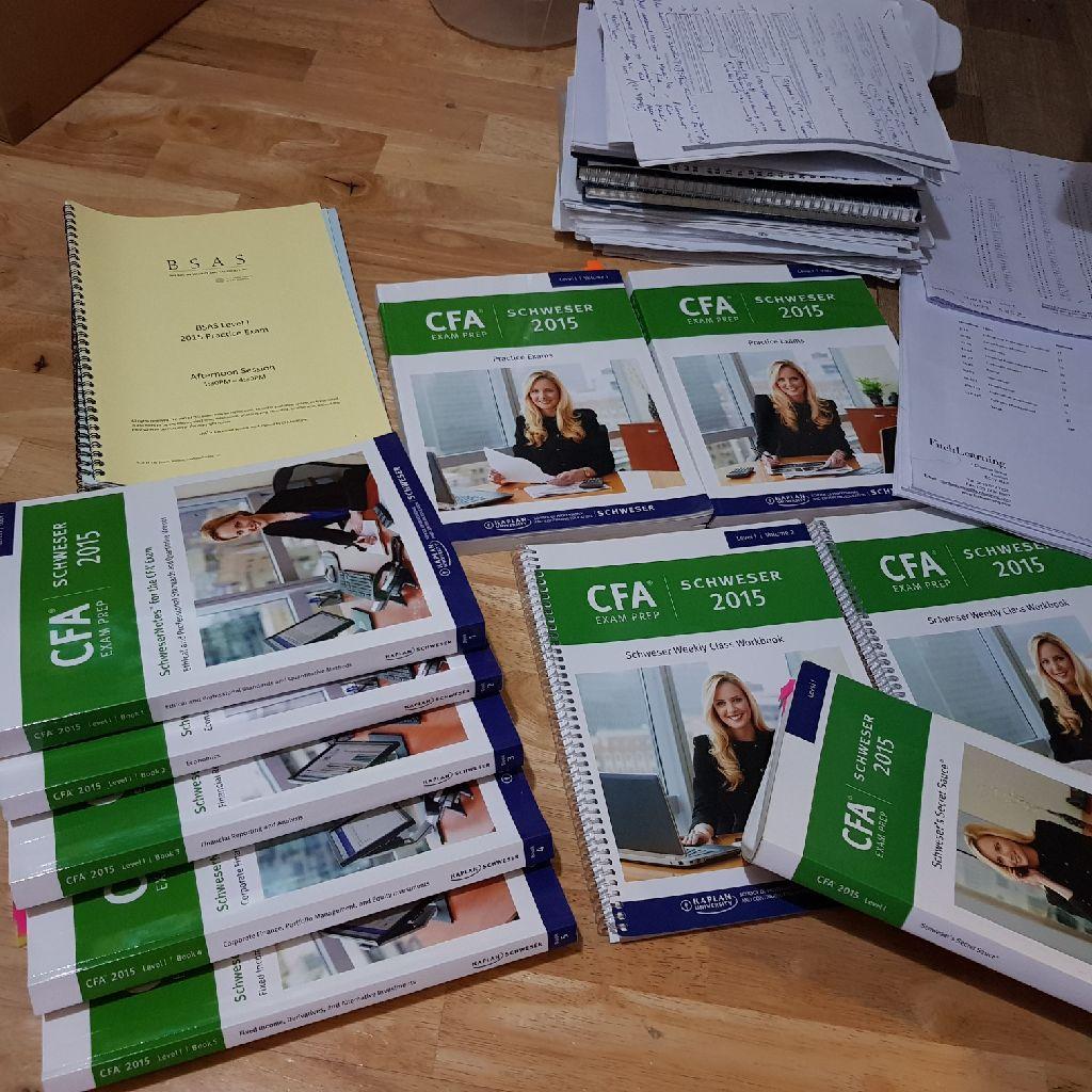 CFA level1 2015 books + Fitch + BSAS Practice Exams+ Secret Sauce Book