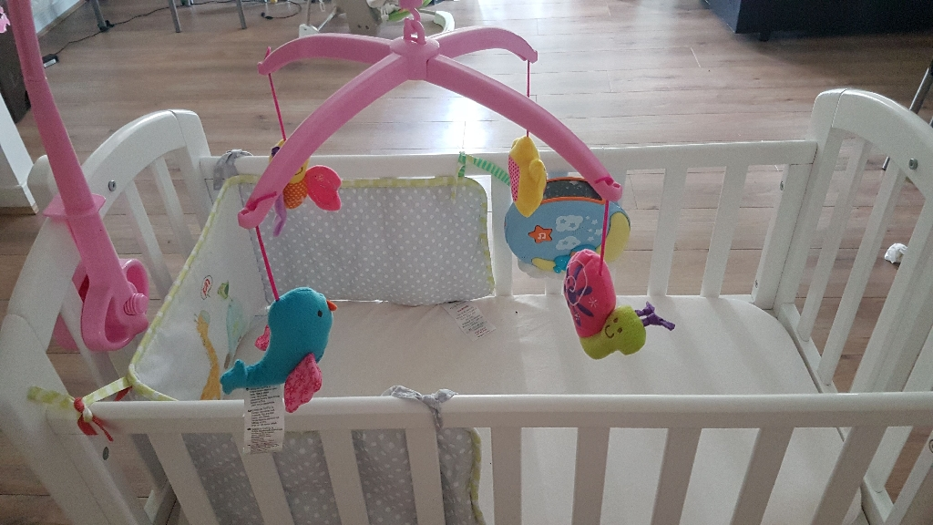 Unused Baby cot and bouncer