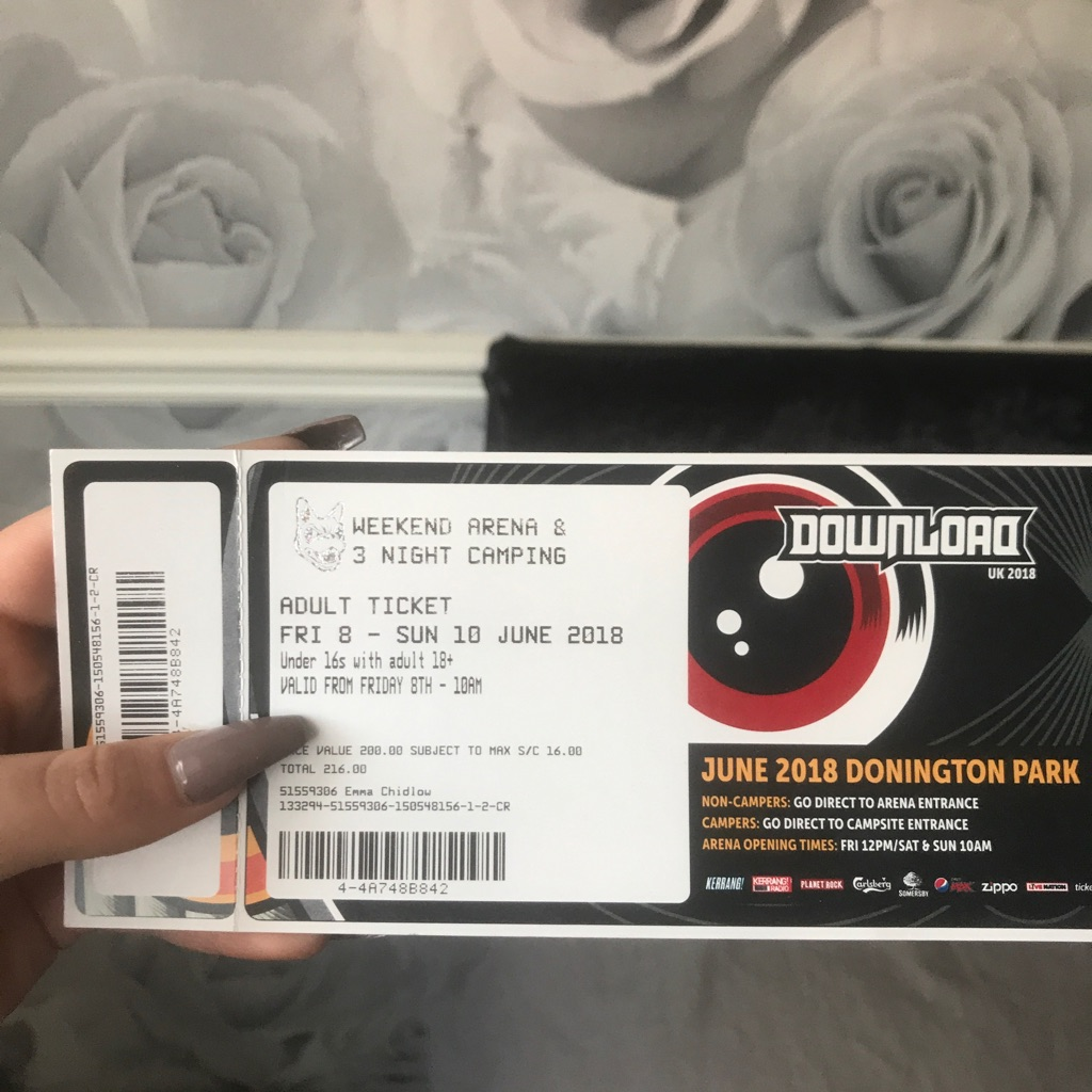 Tickets to download festival