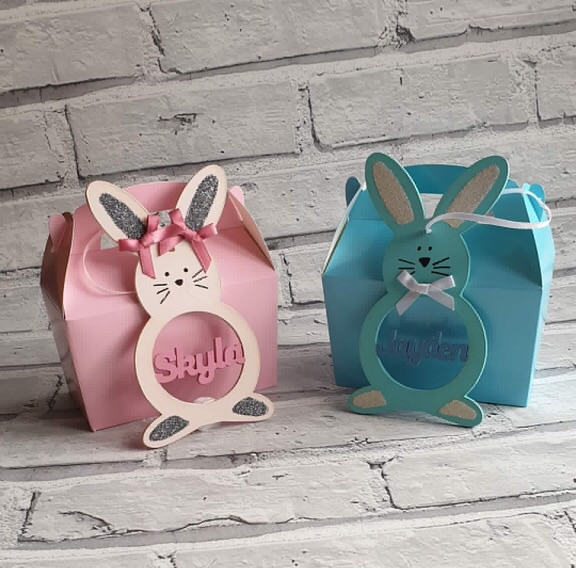 Personalised Easter bunny boxes
