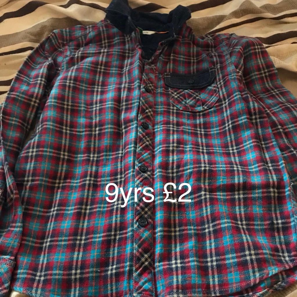 Boys checked shirt 9yrs