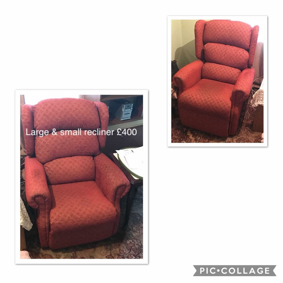 Rise and lift recliners
