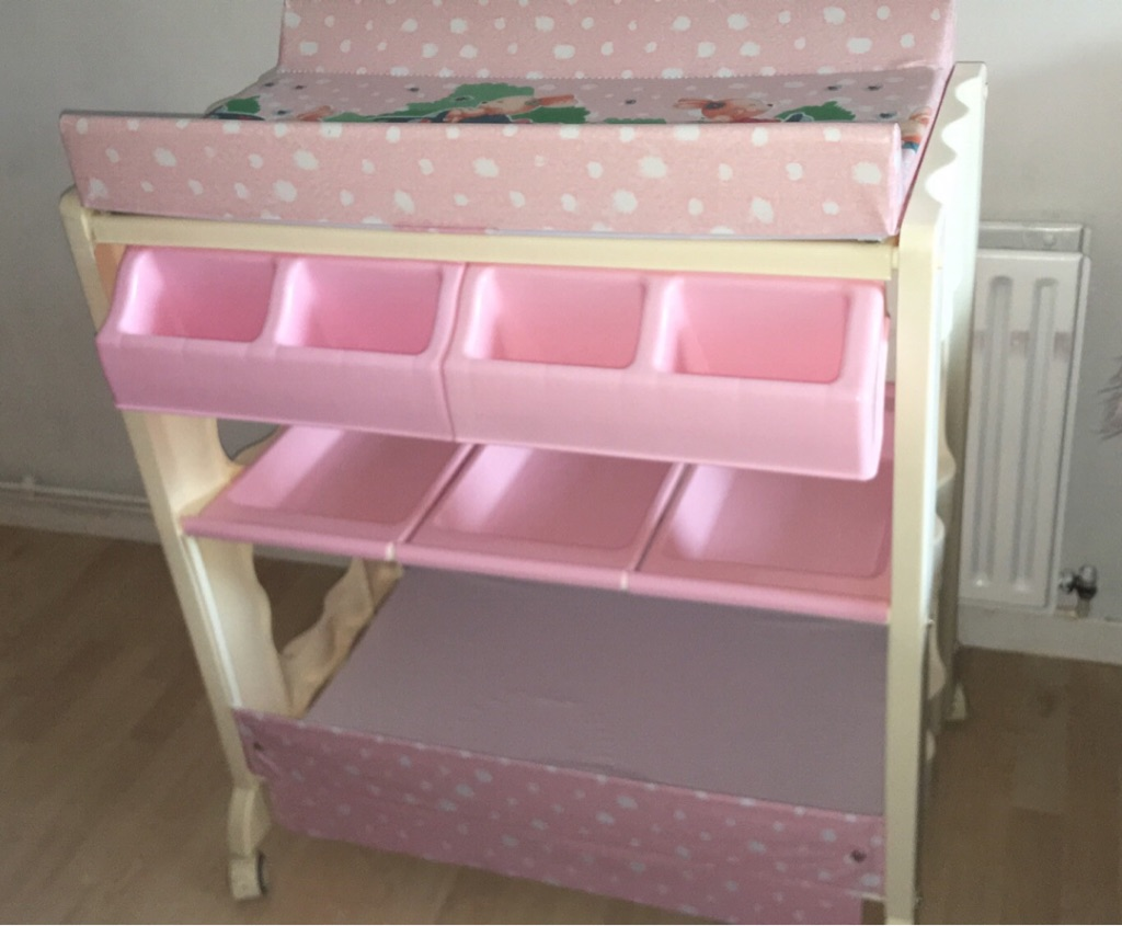 Brandnew Pink BabyGirl Changing Unit