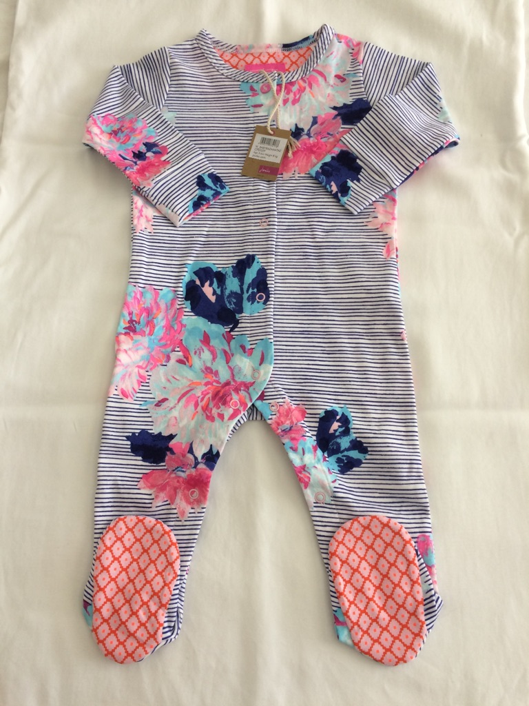 Joules baby grow 3-6 months
