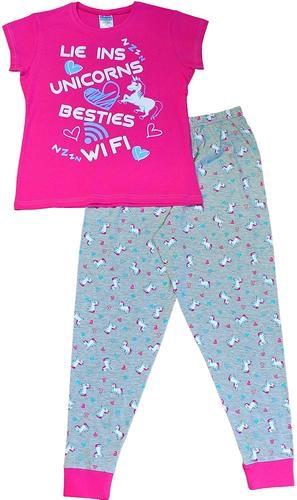 Lie ins, unicorns, besties, wifi girls pyjamas