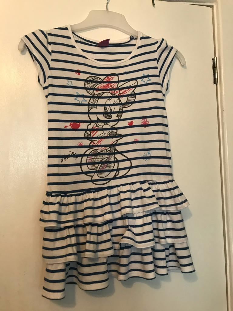Girls Summer Minnie Mouse dress, age 6-7
