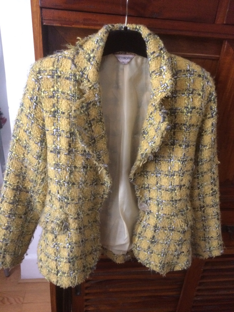 Yellow mid season jacket size 10