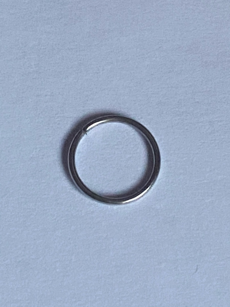 8mm nose ring 20g surgical steel in silver