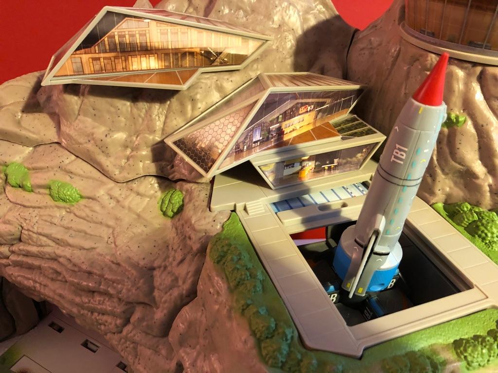Tracy Island and Thunderbird rockets