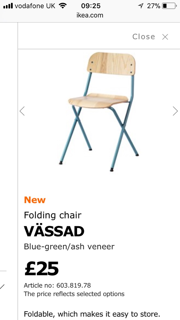 Ikea folding dining chairs