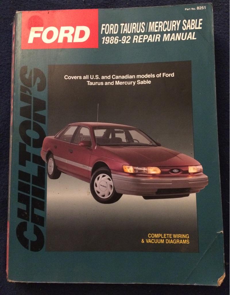 Ford Taurus / Mercury Sable 1986 - 92 Repair Manual