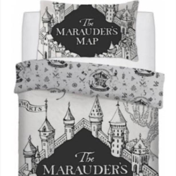 Harry Potter Bedding - Marauders Map