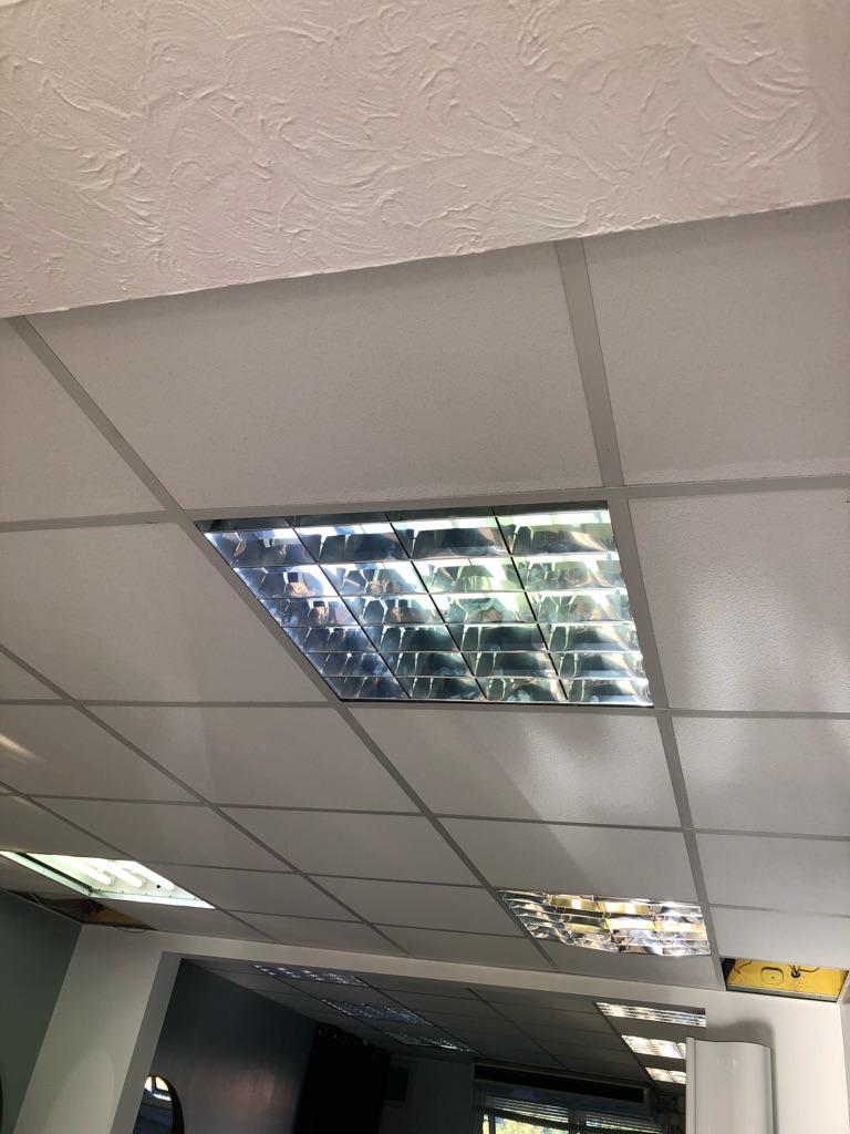 Office lights with bulbs