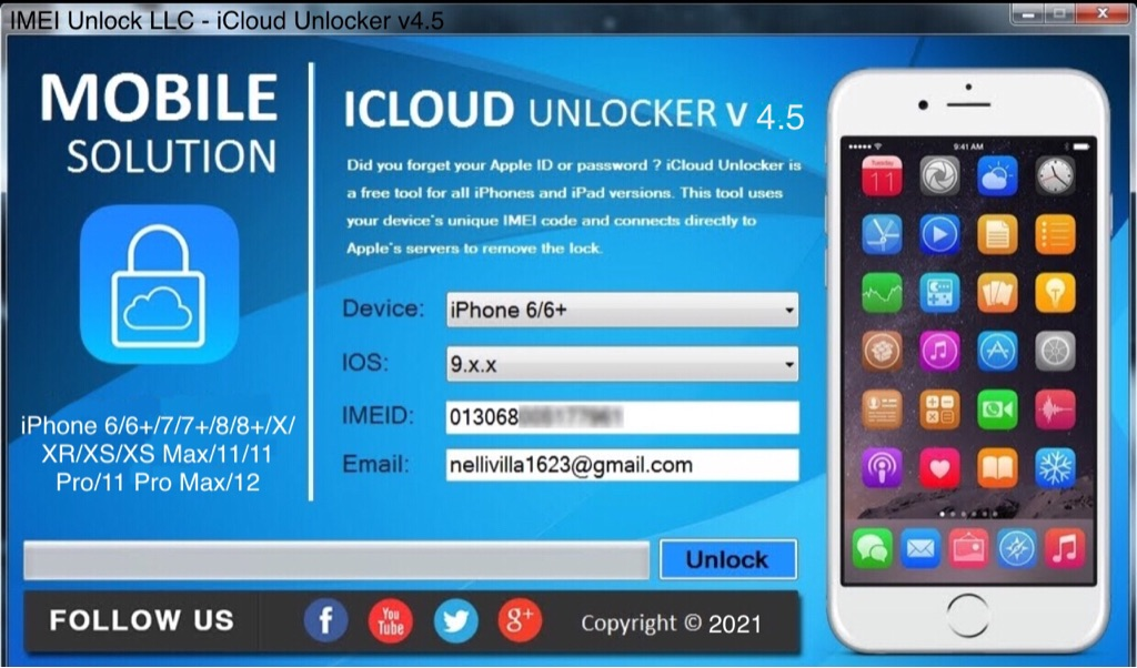 iCloud Unlocker V4.5 Software - $29.99