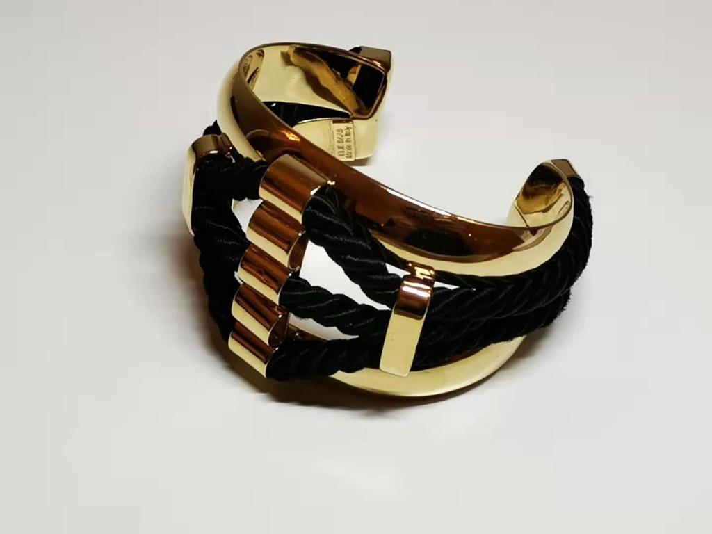 ELIE SAAB, Gold + Black Bracelet