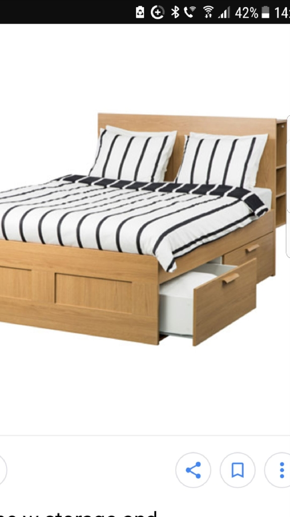 King size bed solid wood