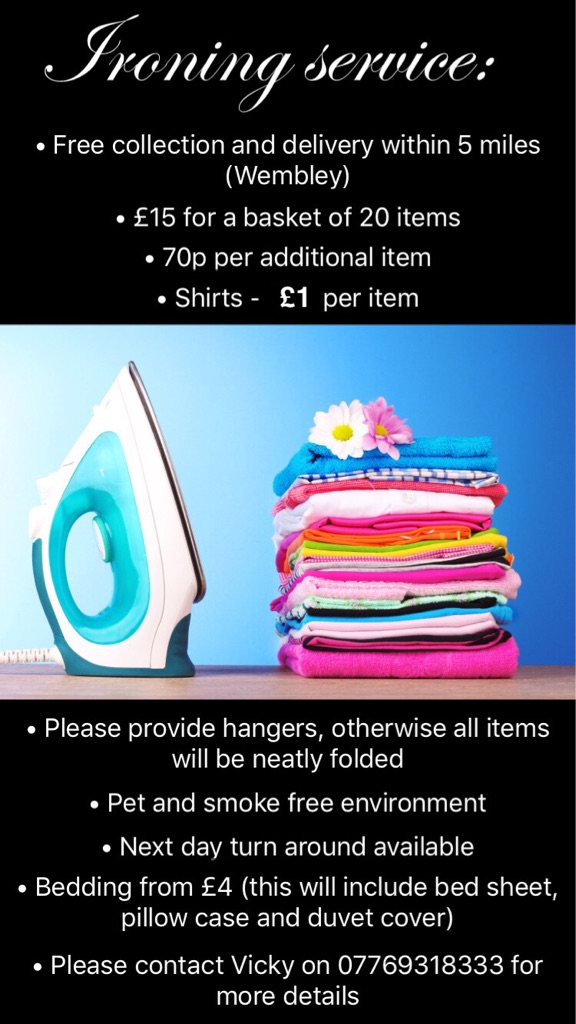 Excellent ironing service