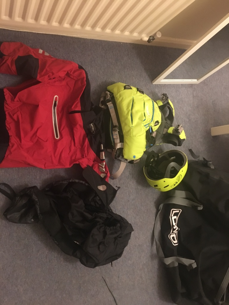 Kayak, paddle and Kit for sale