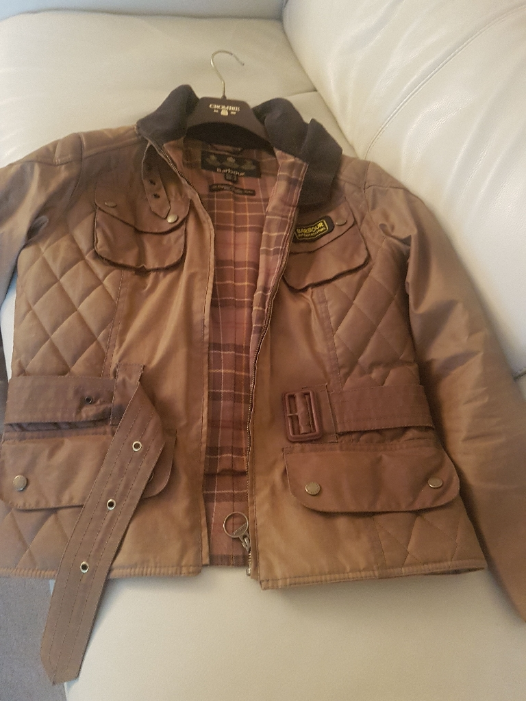 Barbour International waxvbiker jacket 12