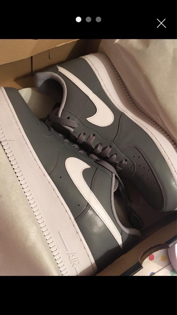 Nike ID Air Force 1s - 9.5 Grey