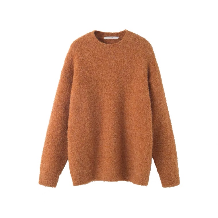 Orange woman sweater
