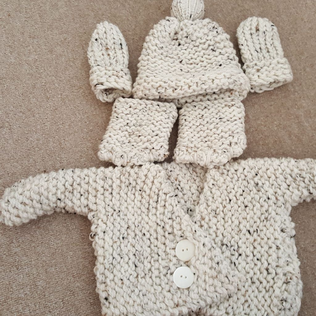 Handmade loom knitted set for Silcone babies,dolls and real newborn babies