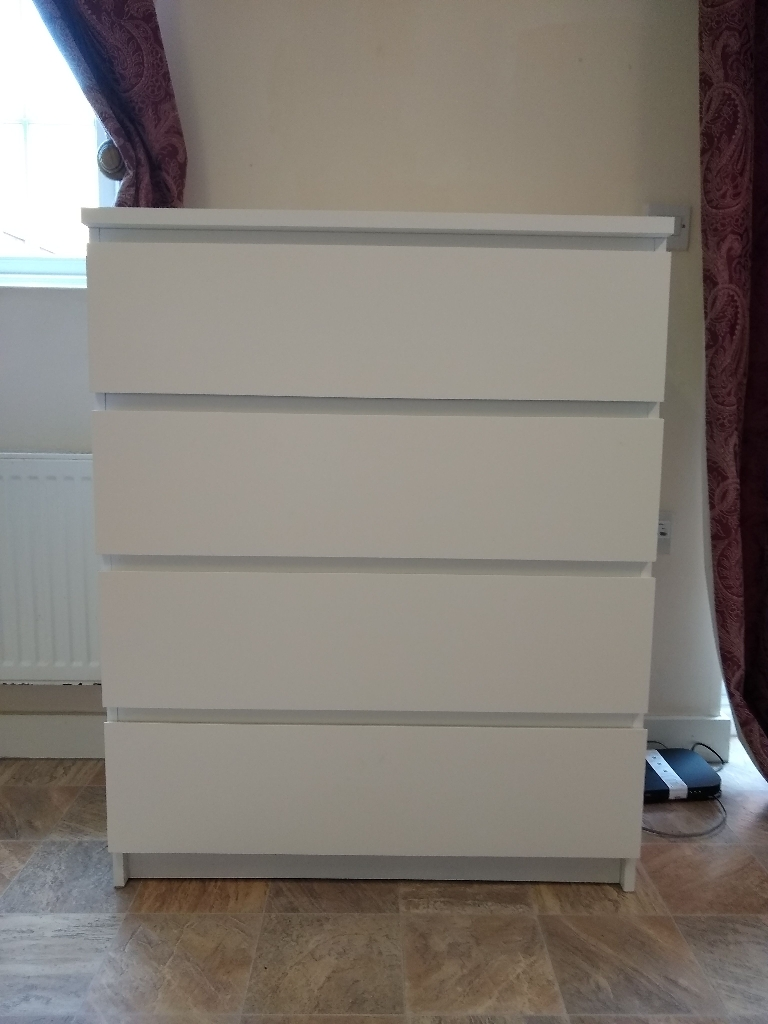 Malm 4 drawers chest
